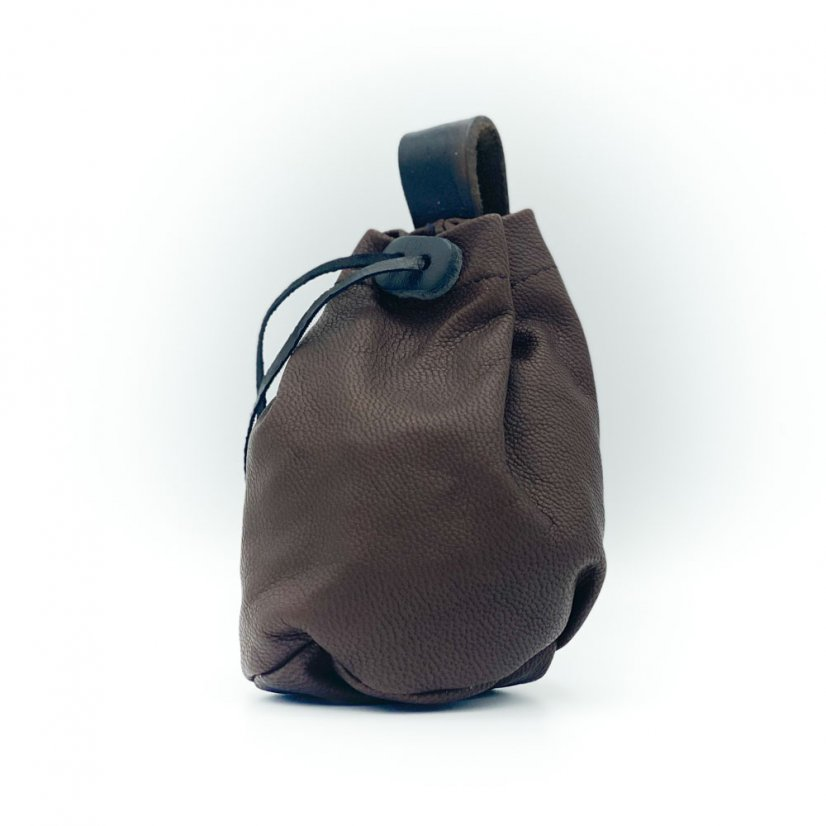 Leather pouch, more colours - Colour: Brown