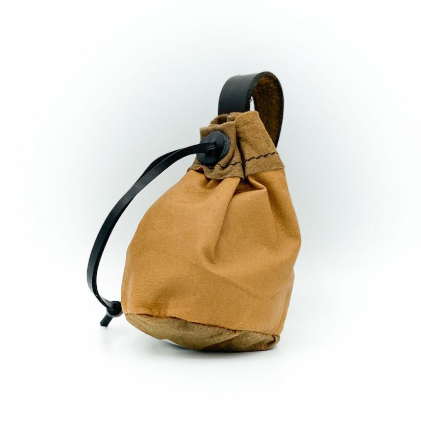 Leather pouch, more colours - Colour: Beige