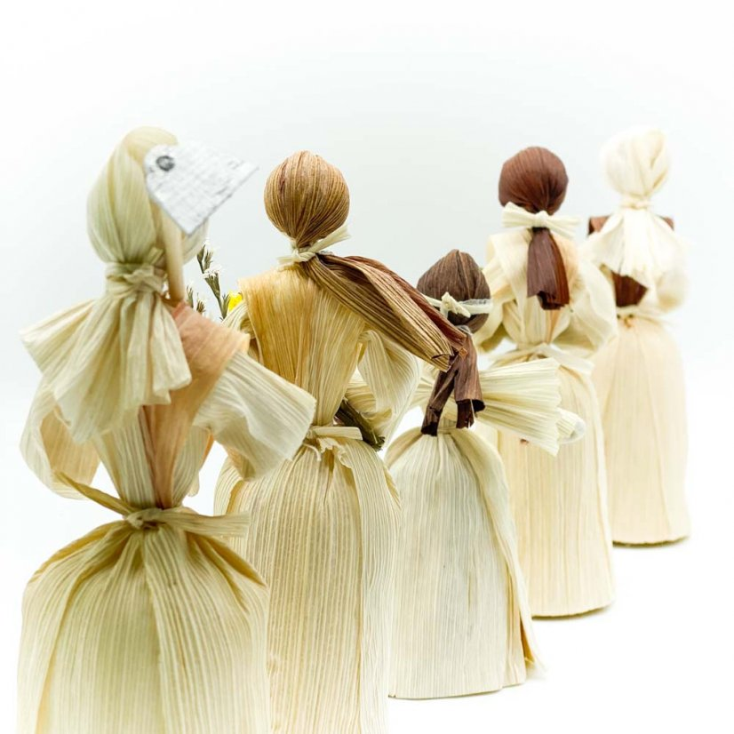 Corn husk doll - jar
