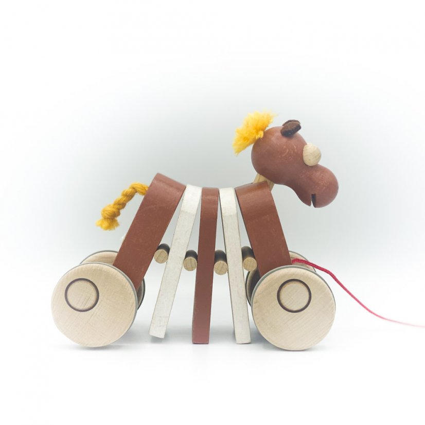 Wooden clapping horse