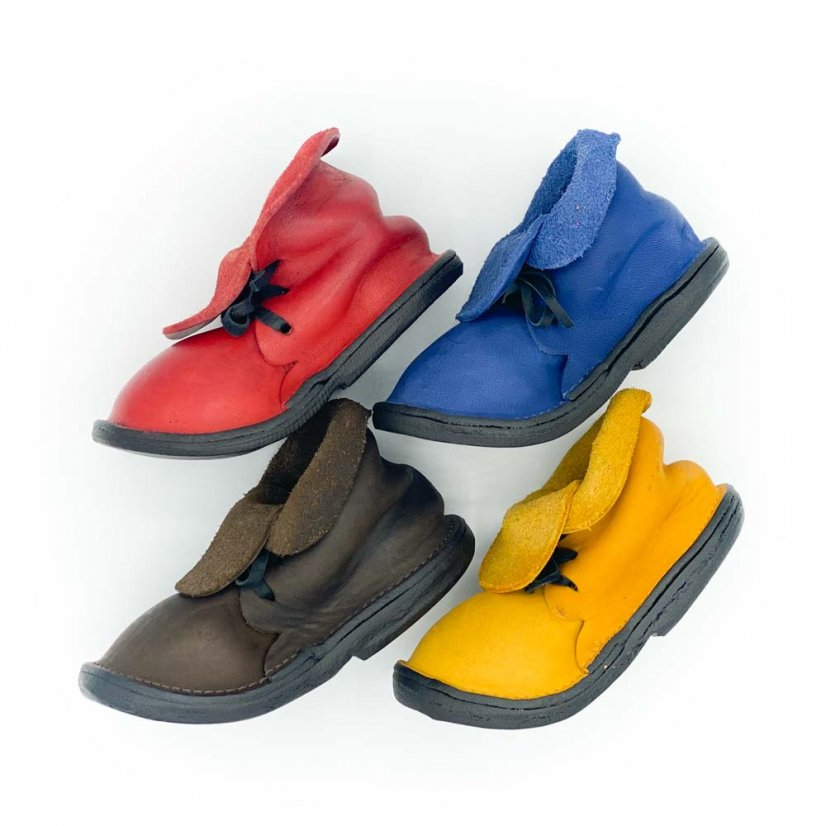 Stand in a shoe shape, more colours - Colour: Blue