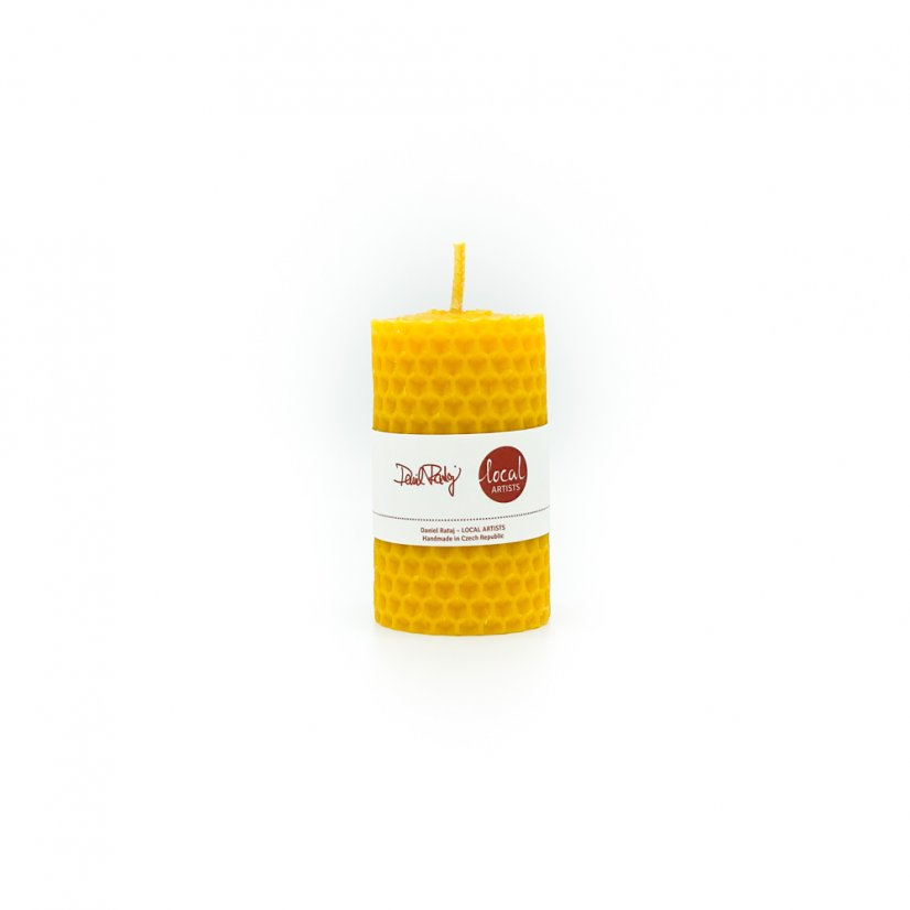 Beeswax candle – round, 4cm
