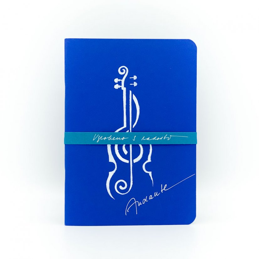 Notebook violin - Colour: Blue