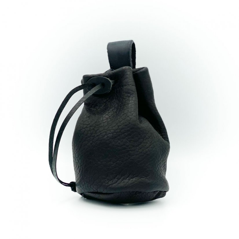 Leather pouch, more colours - Colour: Black