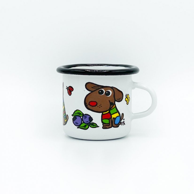 Enamel mug dog