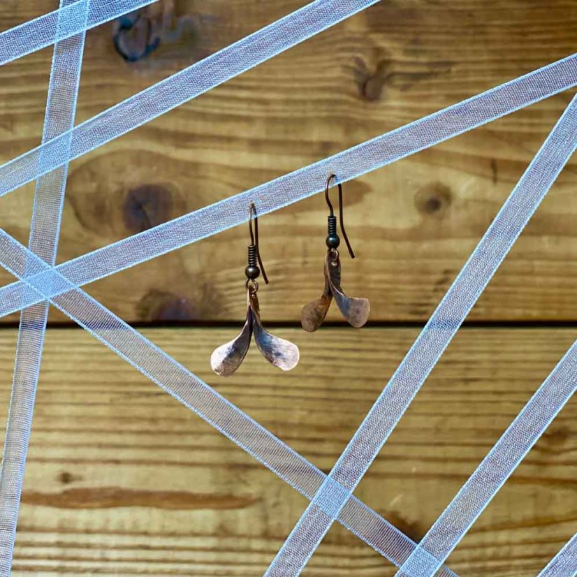 Copper earrings - motif 3