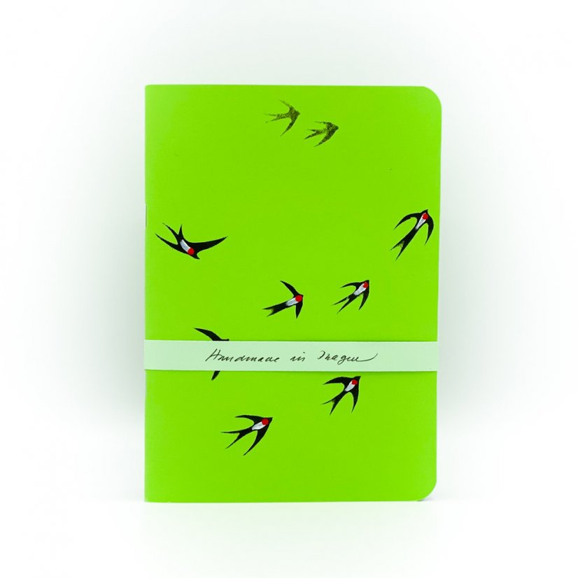 Notebook birds - motif 1 - Colour: Green